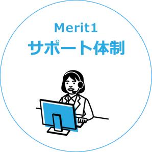 Merit1 サポート体制